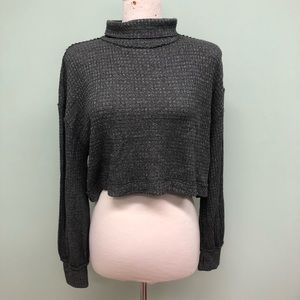 Free People Turtleneck Cropped Sweater (PM1854)